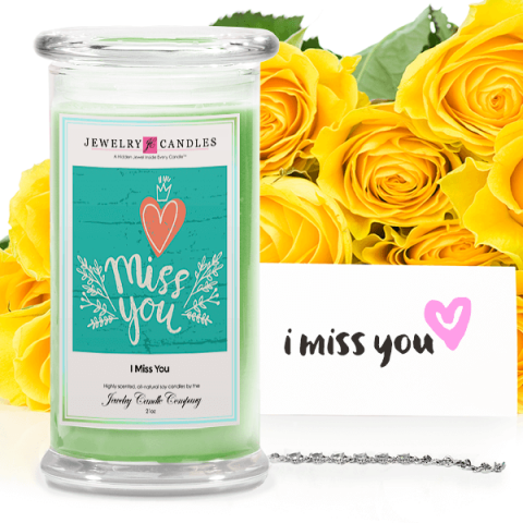 I miss you greeting candles jewelrycandle the jewel shown in the picture is just an example of what you could get in your jewelry candle we offer thousands of different styles and designs of m4hsunfo